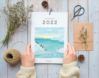 Wall calendar, 12 months calendar, 2022 travel calendar, animal calendar, calendar, gift for traveller