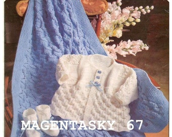 9309173c9 Vintage royal layette knitting pattern baby cardigan gown