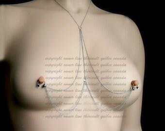 Nipples jewelry , Nipple piercing Jewelry, XXX jewelry, erotic jewelry, BDSM , (m8)