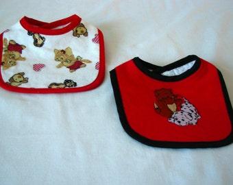 Bib set - Dogs & Cats - set of 2 - flannel