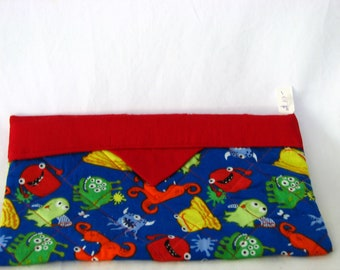 Snap Bag / pouch / cosmetic case / pencil case - Monsters