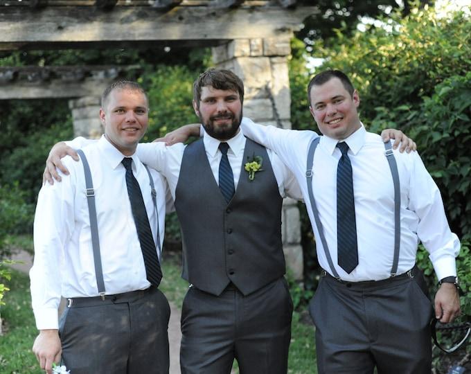 Mens Suspenders, Suspenders, Wedding party Suspenders.
