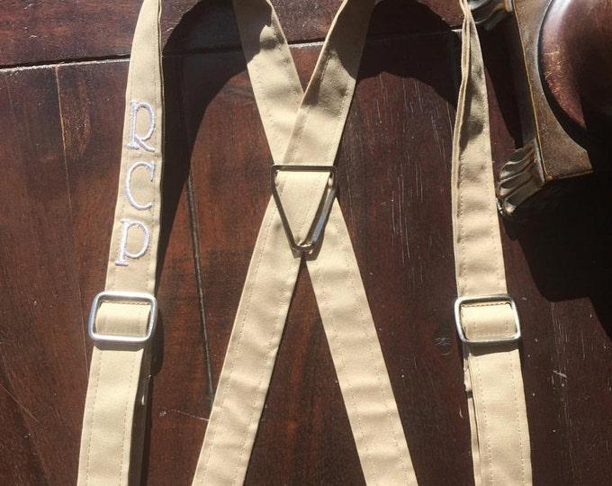 Men's Monogrammed Suspenders, Monogrammed Suspenders, Wedding party Suspenders. Handmade in the USA by Two L Creations