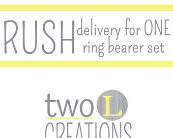 Rush Order Fee for ONE Ring Bearer Set