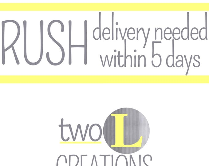 SIXTYONE dollars and ONE HUNDRED dollars - Rush Order Fee for purchases between