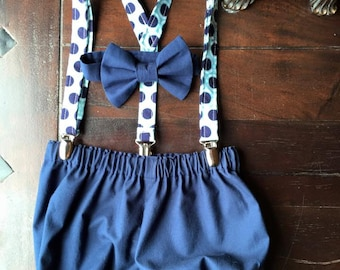 Vintage Cake Smash Outfit, Vintage Smash Cake Outfit, Birthday Boy Outfit, Bow tie, Suspenders, and Diaper Cover by TwoLCreations