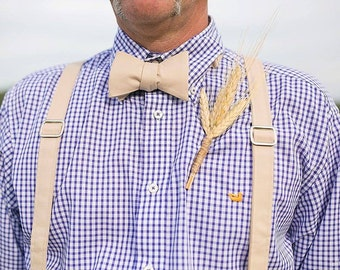 Mens Bow Tie and Suspender Set handmade by TwoLCreations