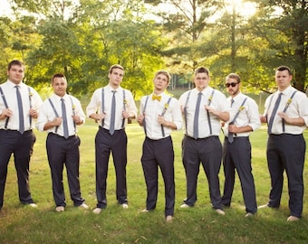 Mens Suspenders, Suspenders, Wedding party Suspenders. Handmade in the USA by Two L Creations