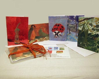 Fine Art Notecards: Still Life Collage Painting Series