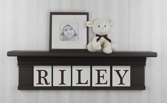 Shelves on Wall for Nursery Personalized Baby Name Sign