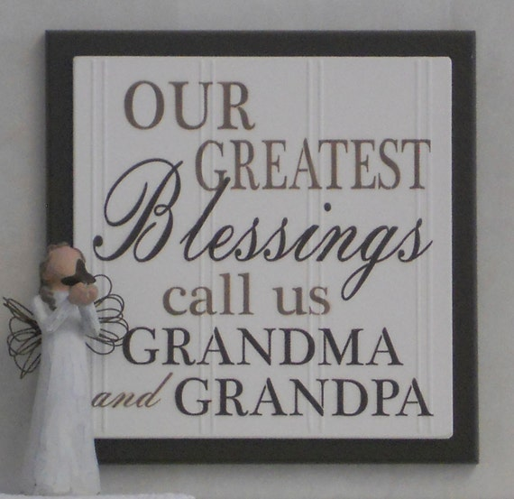 Our Greatest Blessings Call Us Grandma And Grandpa Etsy