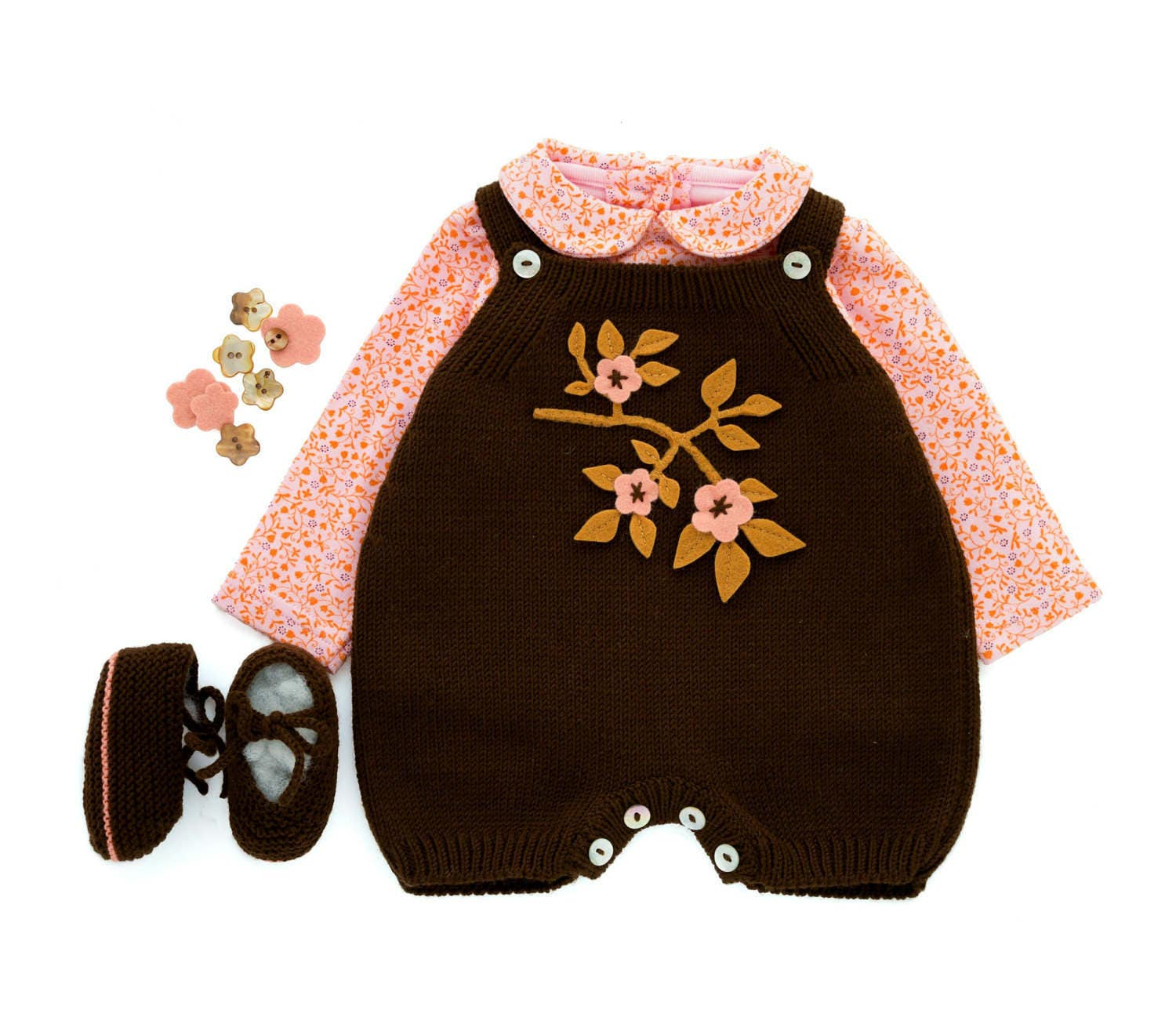 Baby Overalls Knitted Baby Romper Knit Baby Jumpsuit Baby