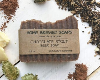 Chocolate Soap, Beer Soap, Gift for Her, Gift for Girlfriend, Gift for Women, Homemade Soap, all natural soap, soap, gift for beer lover
