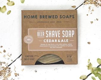 Shaving, Shaving Soap, Mens Soap, Boyfriend Gift, Gift for Men, Beer Soap, Shave Soap, Bar Soap for Shaving, Gifts for Him, Natural Soap