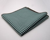 Pocket Square - Forest Gingham Cotton