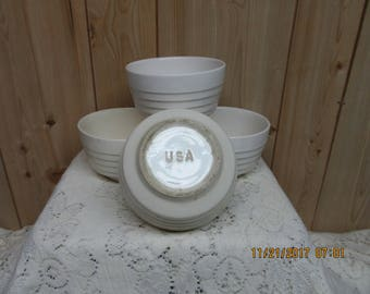Vintage Ironstone Bowls Set of 4 USA