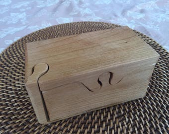 Handcrafted 4 Piece Cherry Puzzle Box With Inner Secret Compartment