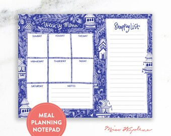 Teacher Gifts Year End, Meal Planner Notepad with Grocery List