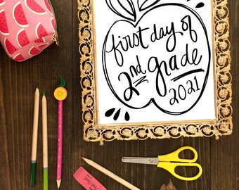 CUSTOM LISTING for Jessica First Day of School Sign Instant Download, Digital File, Daycare