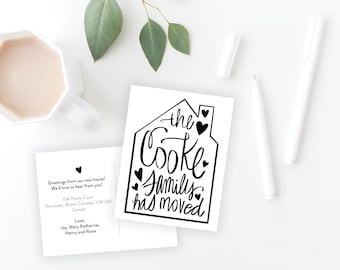 Change of Address Postcards for Moving Announcement, digital and printed options