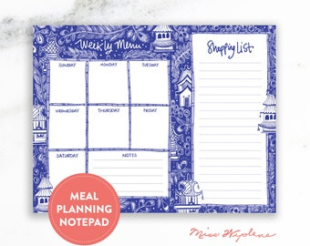 Meal Planner Notepad with Grocery List for Teacher Gift Year End