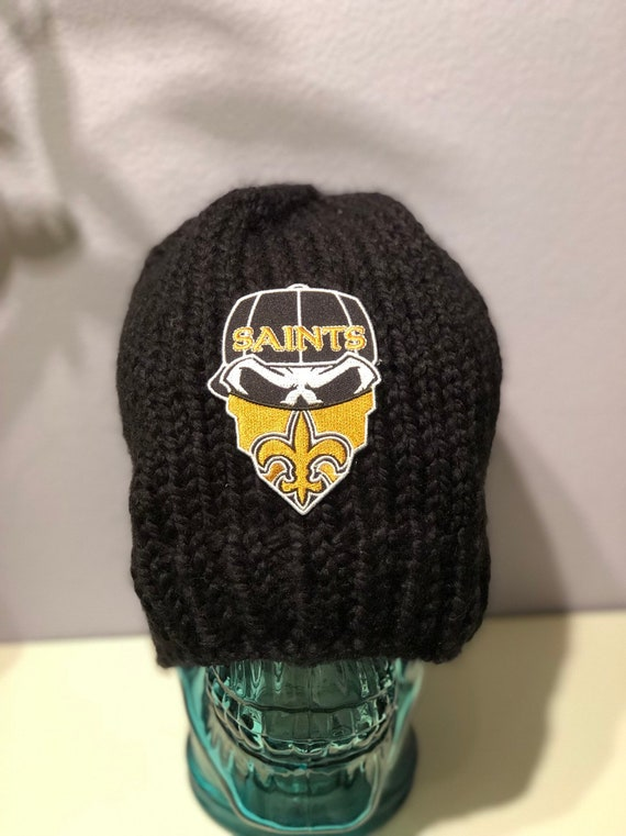 Clearance  N.O. Saints football hat with ski mask patch.  dc93b154c
