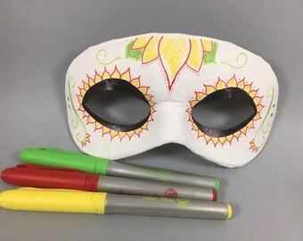 White And Black Leather Masquerade Mask Unisex Etsy