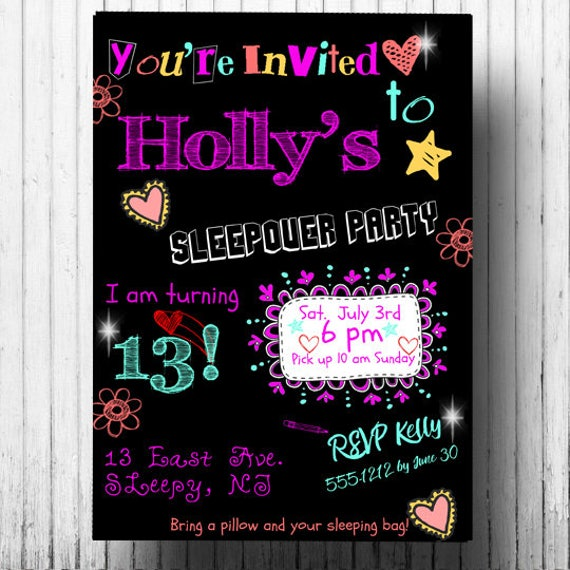 graphic about Printable Slumber Party Invitations identified as Snooze Get together Invitation - PRINTABLE Pajama Occasion Invitation - Sleepover Occasion Invitation