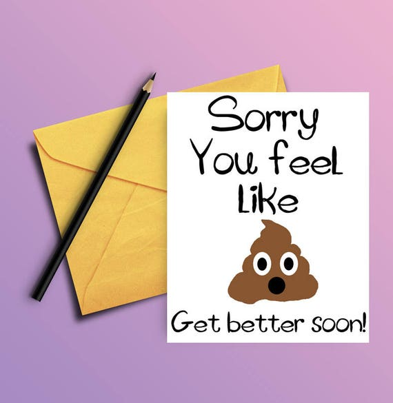 picture about Get Well Soon Card Printable known as Order effectively card - Humorous just take perfectly quickly card - PRINTABLE CARD - Sense greater quickly card