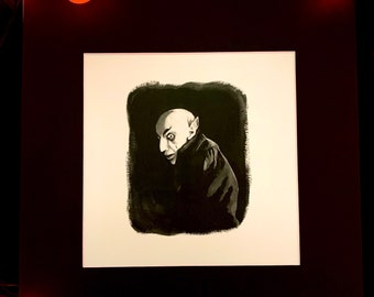 Spooky Gouache Prints