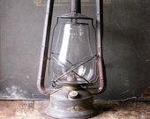 Vintage Dietz Monarch Lantern - Railroad Oil Lamp with Original Glass