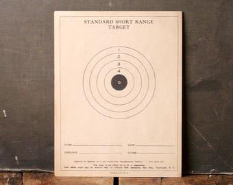 Vintage Standard Short Range Targets - Double Sided Bulleyes