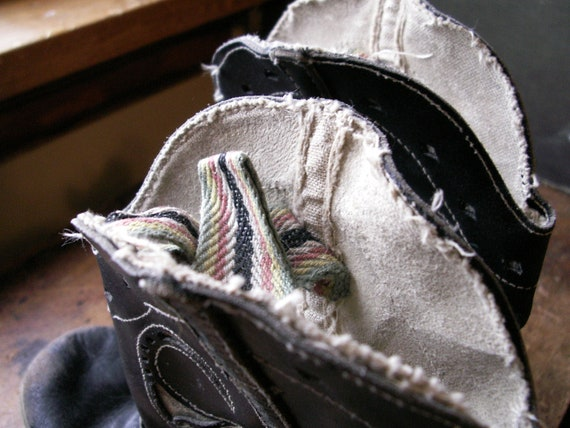 Vintage Kids Cowboy Boots - Black and White Weste… - image 9