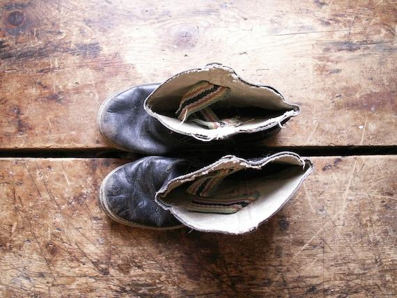 Vintage Kids Cowboy Boots - Black and White Weste… - image 3