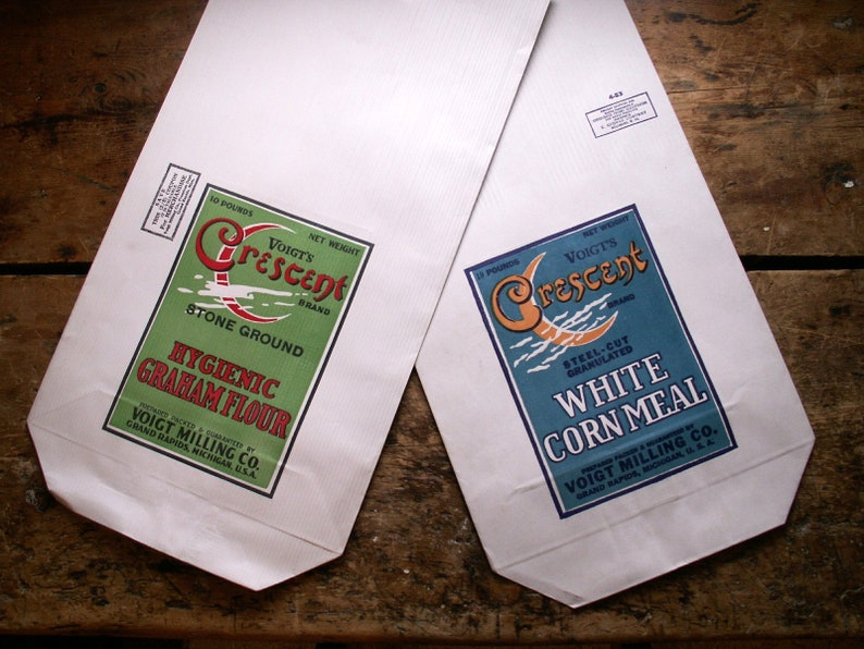 Vintage Voigt's Crescent Brand Corn Meal and Flour Paper image 0