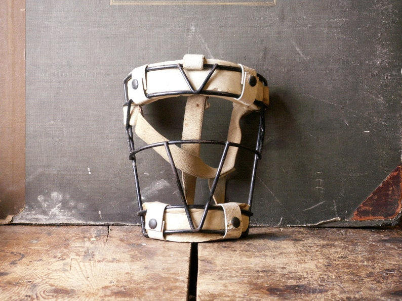 Vintage Baseball Catchers Mask  Umpire Mask  Great Guy Gift image 0