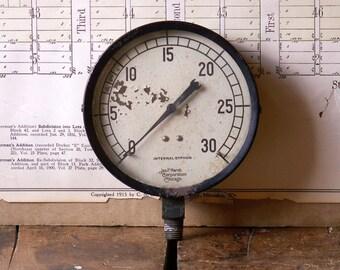 Vintage Marsh Internal Siphon Gauge - Great Guy Gift!