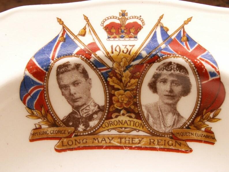 Vintage Commemorative Coronation Soup Bowl  King George & image 0
