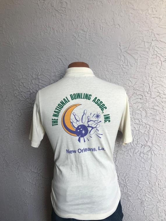 70 / 80 ' de s Vintage de ' la Nouvelle-Orléans Bowling chemise Polo Med. 169121