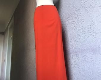 Vintage 80's/90's Ann Demeulemeester Long Straight Column Skirt sm/med 40