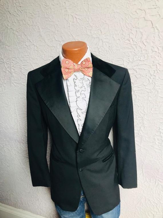 70's  Vintage Men's After Six Tuxedo Jacket Velvet