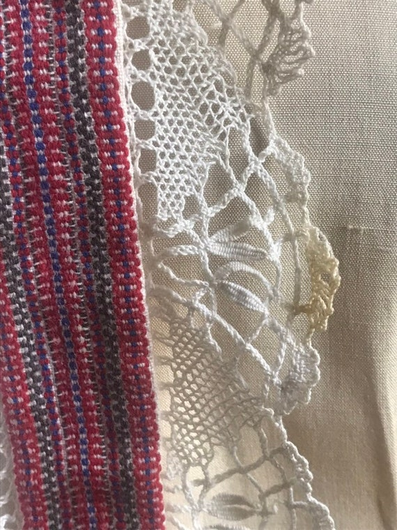 Vintage 30's/40's Hand Made Lace Silk Peasant  Bl… - image 7