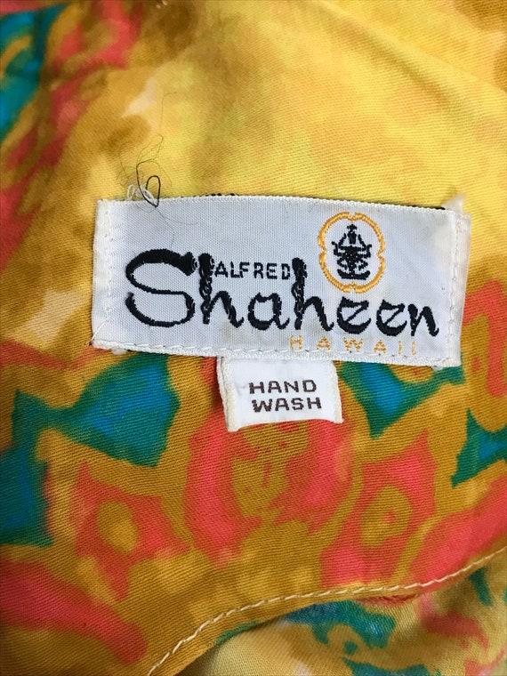 60's Shaheen Paisley Print Mod Hippie Cotton Shif… - image 8