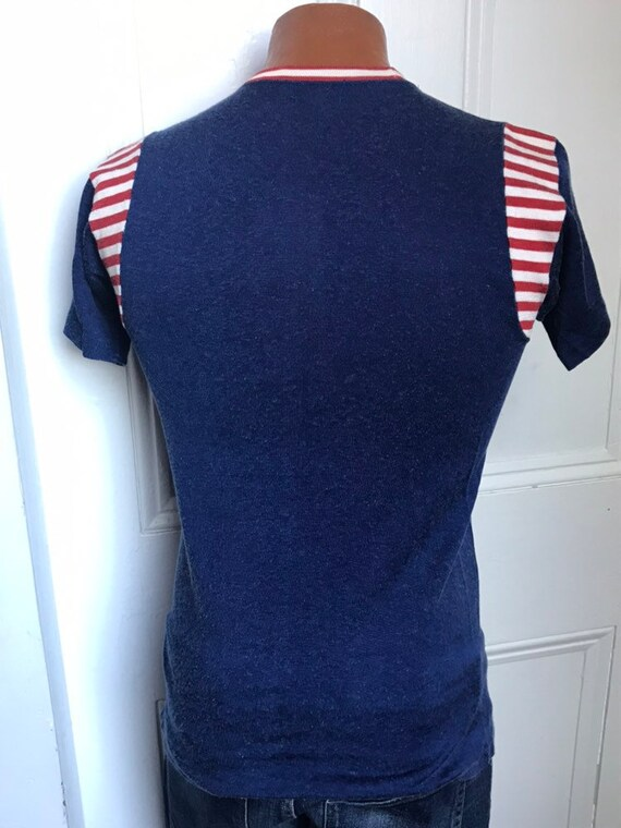 40's/50's Vintage Men's  Rayon Sport Jersey Strip… - image 2