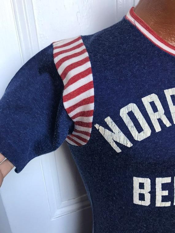 40's/50's Vintage Men's  Rayon Sport Jersey Strip… - image 7