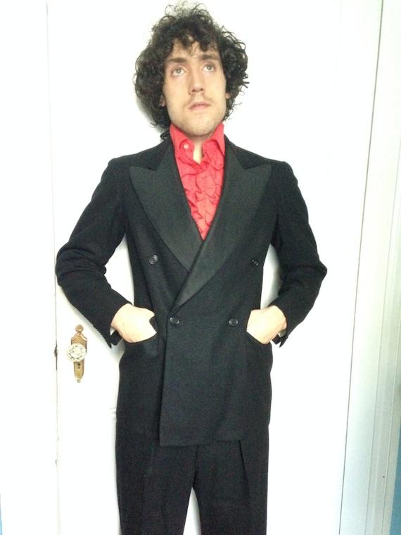 30's Vintage Men's Gangster Tuxedo Suit   medium