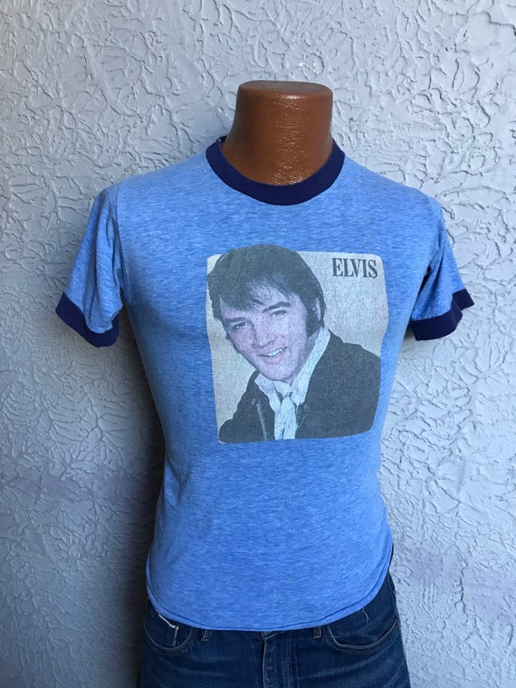 70's Vintage Men's Elvis Presley Ringer T-Shirt US