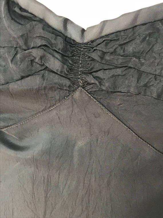 30's Vintage Rayon Silk Plaid Gown Dress - image 7