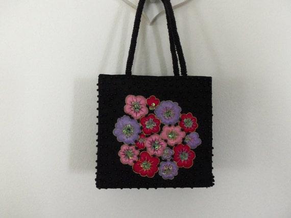 Floral Box Purse - Made in India, Silk, Fashion Ac