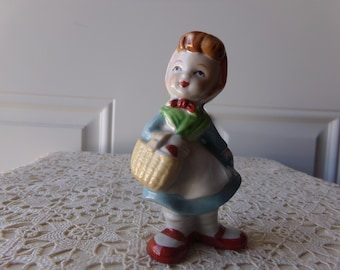 Vintage Figurine Ceramic, Hand-Painted, Vintage Christmas, Vintage Holiday, Gift Idea, Nostalgia,50 to 75, Childs Room, Home Decor: Coll-114